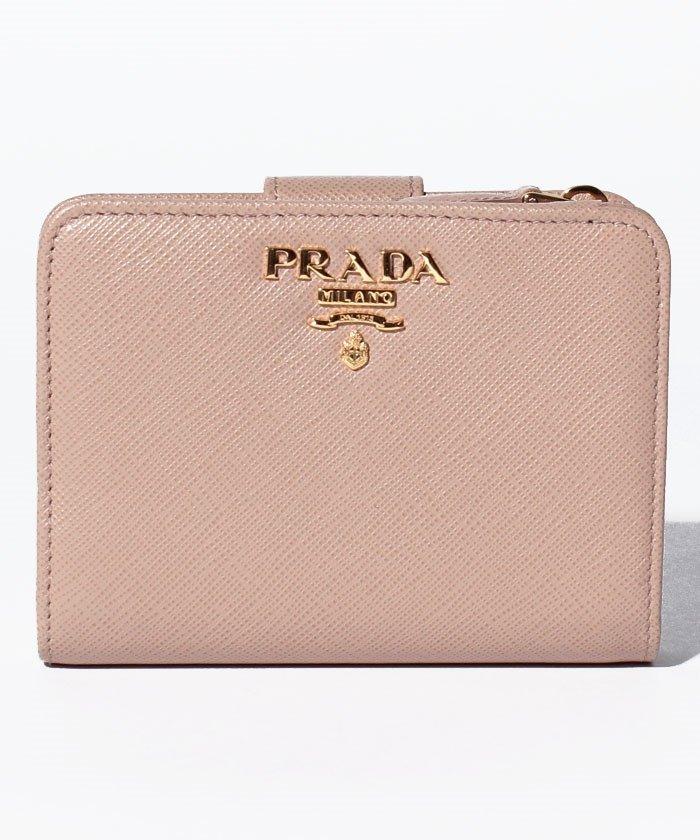09f260dc7888 PRADA(プラダ)/【PRADA】2つ折りコンパクト財布 / SAFFIANO METAL ORO