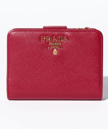 PRADA/【PRADA】2つ折りコンパクト財布 / SAFFIANO METAL ORO 【FUOCO】/501367857
