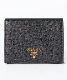 PRADA/【PRADA】2つ折りコンパクト財布 / SAFFIANO METAL ORO 【NERO】/501367858