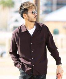 JIGGYS SHOP/長袖オープンカラーレーヨンシャツ / 開襟シャツ オープンカラーシャツ 長袖シャツ メンズ/501368025