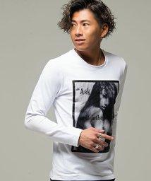 CavariA/CavariA【キャバリア】ガールフォト3Dプリントクルーネック長袖Tシャツ/501368067