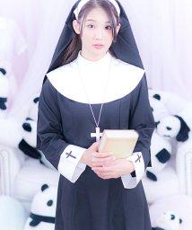 Dita/costume【コスチューム】シスターガール3点セット(ベール、ネックレス、ドレス)/黒(ブラック)/501368082