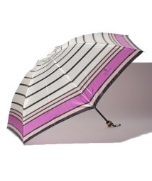 LANVIN en Bleu(umbrella)/LV-B 婦人ミニナイロンサテンプリントボーダー/501255003