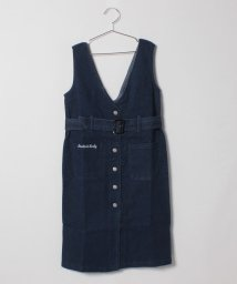 Lovetoxic/ベルトつき前ボタンジャンパースカート/501359100
