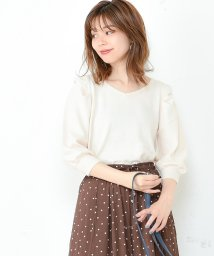 NICE CLAUP OUTLET/【natural couture】パワショル前後2WAYニット/501361268