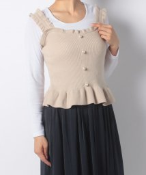 NICE CLAUP OUTLET/【every very nice claup】フリルニットビスチェ/501361275