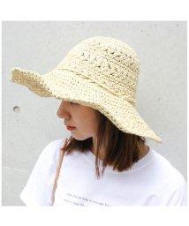 MODE ROBE/ペーパー細編みリボンハット/501368883