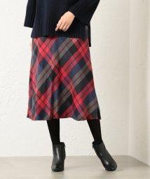 TRANSWORK/【ウォッシャブル】ブロックカラースカート/501370088