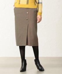 TRANSWORK/【美Skirt】【ウォッシャブル】チェルビックチェックタイトスカート/501370091