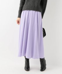 SLOBE IENA/ピーチサテンギャザースカート/501370966