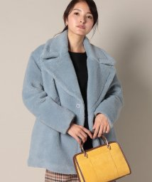 beautiful people/wool boa half pea coat/501176618