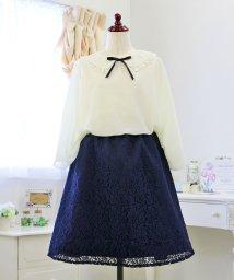 Little Princess/ポンチョ風ブラウス&総レーススカートセット/501355308