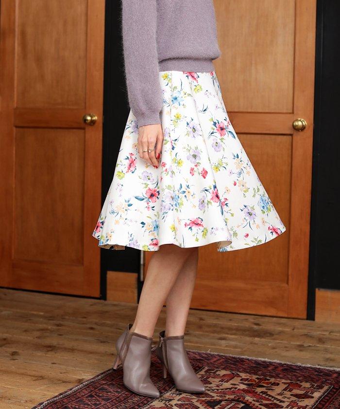 31 Sons de mode 花フレアスカート