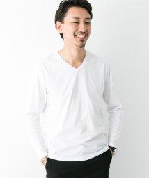 URBAN RESEARCH/【ROSSOMEN】スーピマコットンVネックロングTシャツ/501326115