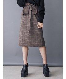 EMODA/マークコルセットミディスカート/501350457