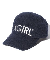 X-girl Stages/ロゴ刺しゅう入りボアジェットキャップ/501364799
