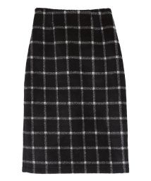 ur's/ウール混チェックタイトスカート/501375020