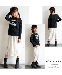 RiCO SUCRE/オフショルチョーカー風ロングTシャツ/501376648