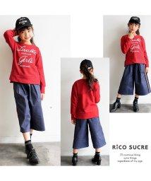 RiCO SUCRE/スリットロゴトレーナー/501376653