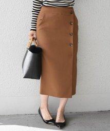 SHIPS WOMEN/ソリッドボタンタイトスカート◇/501224961