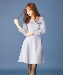 MIIA/刺繍フレアニットワンピース/501366335