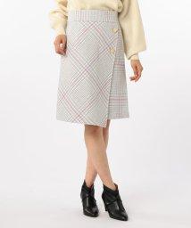 NOLLEY'S/ループチェックツイードラップスカート/501366796