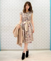 Eimy Peal by POWDER SUGAR/ゴブラン織りフレンチ袖リボン付ワンピース/501370988