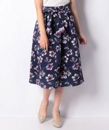 Eimy Peal by POWDER SUGAR/フラワー柄リボン付スカート/501371002