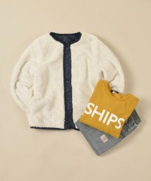 SHIPS KIDS/SHIPS KIDS:ボア×キルト リバーシブル Vネック ジャケット(100~130cm)/501378207