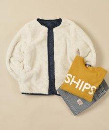 SHIPS KIDS/SHIPS KIDS:ボア×キルト リバーシブル Vネック ジャケット(145~160cm)/501378208