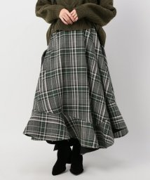 JOINT WORKS/CLANE asymmetry hem check skirt◇/501380119