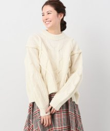 JOINT WORKS/CLANE cropped 3D knit tops/501380123