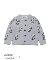 gelato pique Kids&Baby/【KIDS】【PEANUTS】ジャガード kids カーディガン/501380248