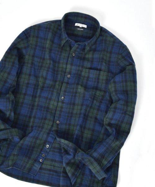 SHIPS JET BLUE(シップス ジェットブルー)/SHIPS JET BLUE: チェック レギュラーカラーネルシャツ/121160023