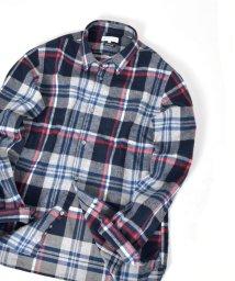 SHIPS JET BLUE/SHIPS JET BLUE: チェック レギュラーカラーネルシャツ/501380309