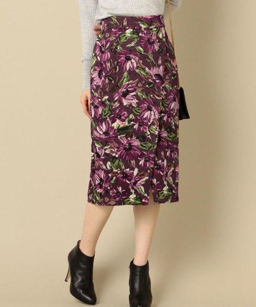 SHIPS WOMEN(シップス ウィメン)/フラワープリントタイトスカート/313250322