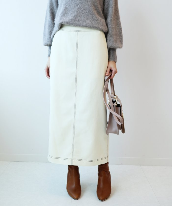 Spick & Span ハイショクステッチアイラインスカート