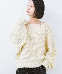 haco!/手編み風ガーター編みがかわいいざっくり女っぽニット/501290729