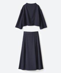 haco!/旅の救世主 きれいめブラウスとスカート見えゆったりワイドパンツのセットアップ/501312486