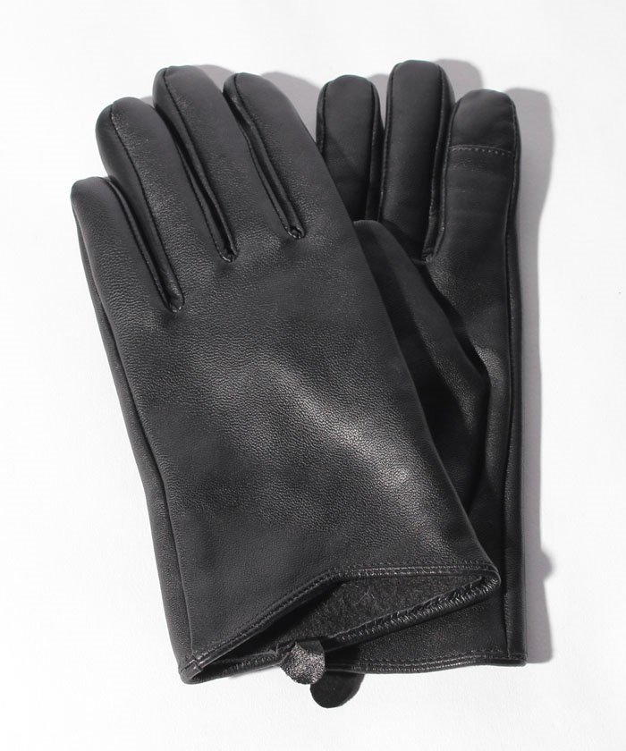 :タッチパネル対応レザー手袋/C