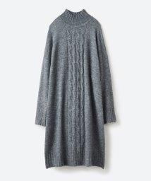haco!/お寝坊さんの着るだけ素敵服 ぱふっとシルエットのケーブル柄ニットワンピース/501372775