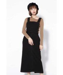 ROSE BUD/配色ステッチジャンパースカート/501377494