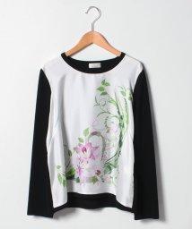 GUEST JOCONDE/【大きいサイズ】NADIA 花柄プリント布帛使いセーター/501349462
