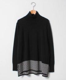 GUEST JOCONDE/【大きいサイズ】NADIA ヘリンボーン柄切替セーター/501349464