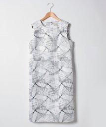 GUEST JOCONDE/【大きいサイズ】ジオメトリックプリント ノースリーブドレス/501349468
