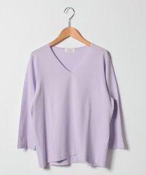 GUEST JOCONDE/【大きいサイズ】ARINA 天竺編みVネックセーター/501349469