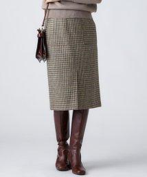 NIJYUSANKU(LARGE SIZE)/MOON SHETLAND TWEED タイトスカート/501383213