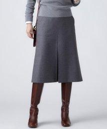 NIJYUSANKU(LARGE SIZE)/【一部店舗限定】ミルドウールフランネル スカート/501383214