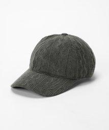 MAJESTIC LEGON/ケーブルニット風CAP/501165474