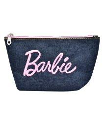 RUNNER/Barbie バービー デニム 刺繍 ロゴ 舟形 ポーチ/501315476